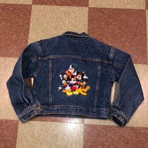 Disney denim jacket Mickey goofy Donald vacation